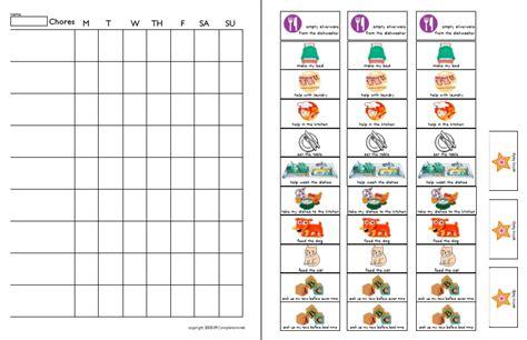 Chore Chart Templates Preschool Chore Chart Template