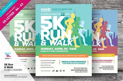 5k flyer template 5k run walk flyer and poster flyer templates