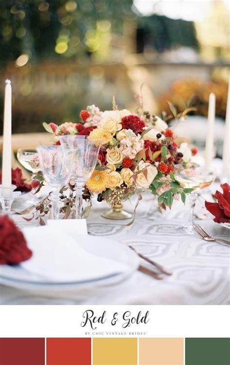 stunning autumn wedding colour palettes chic vintage