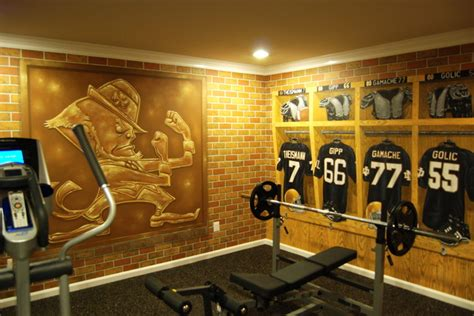 notre dame locker room notre dame football locker room mural by tom of mural llc in florida traditional
