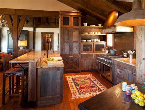 chimney rock cabin rustic kitchen denver  terra