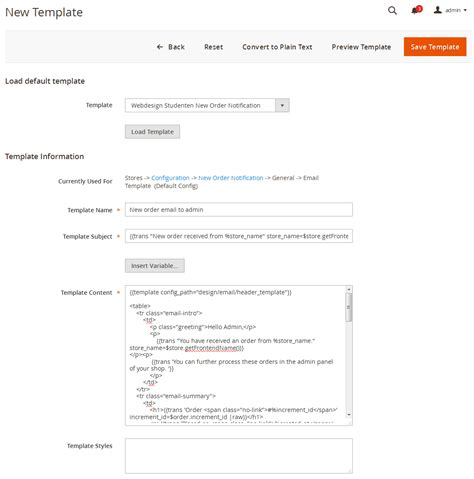 Magento 2 New Order Notification By Webdesignstudenten Codecanyon How To Create Custom Email Template In Magento