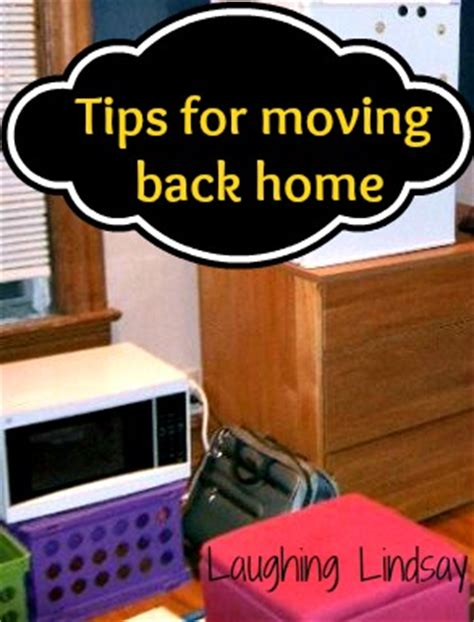 five tips to move back home after college without