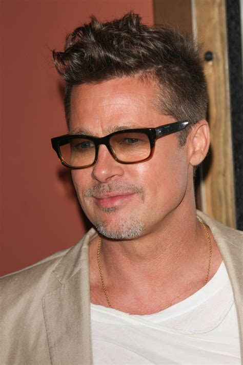 Brad Pitt Spiky Wavy Haircut