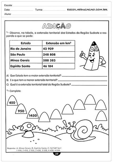 Atividades de Matemática - 4º ano - Para Imprimir