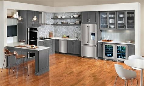 Two Color Kitchen Cabinets by 15 Modern Gray Kitchen Cabinets In Silver Shades