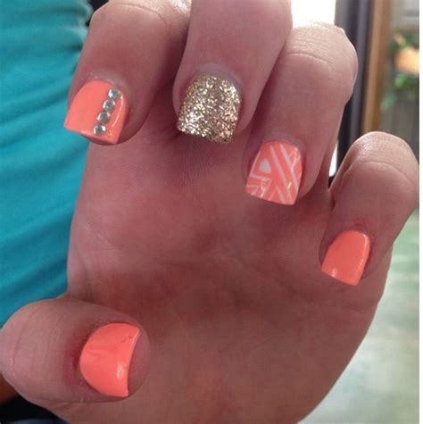 orange pattern nails 17 best images about nails on pinterest halloween nails