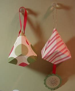 Origami Bell - origami bell ornaments snow