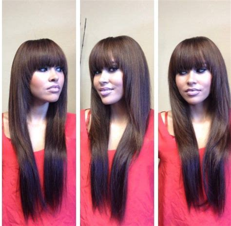 hairstyles to cover hair extensions 85 best full sew in images on pinterest black people