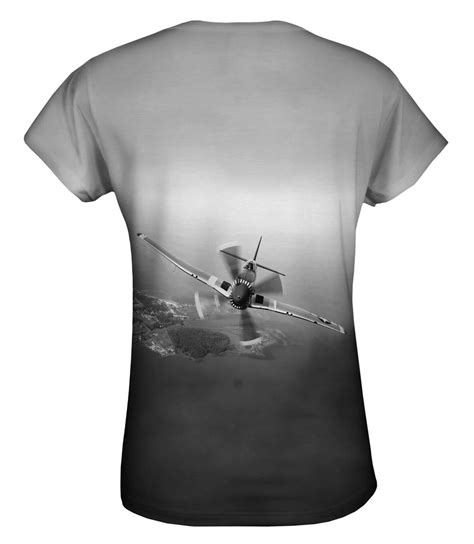 Shirt With Accessories Black White S M L 17410 yizzam p 51 mustang plane black white new womens top