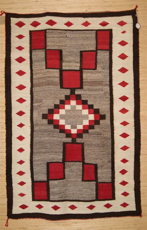 Navajo Rug Design by Historic J B Trading Post Pattern