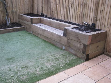 How Are Railway Sleepers by Railway Sleepers 171 Garden Gurus Landscape Gardening In
