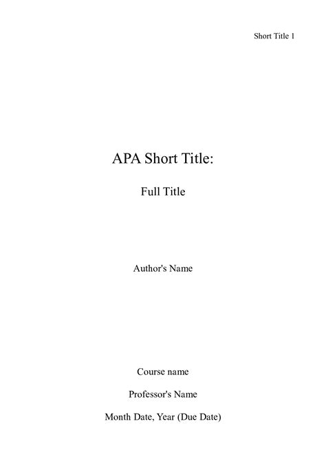 Essay Title Page by Apa Essay Help With Style And Apa College Essay Format