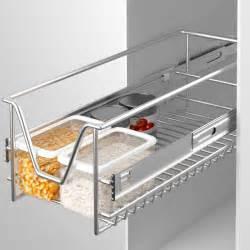 panier de rangement coulissant cuisine meuble pour placard