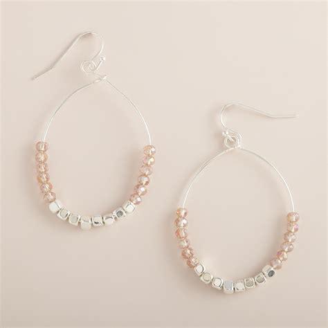 silver bead hoop earrings world market