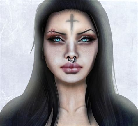tattoo cross on forehead second marketplace corvus cross forehead