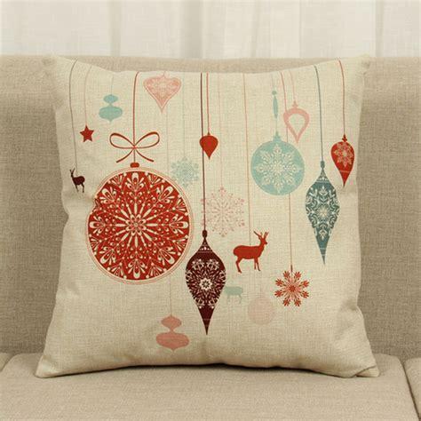 christmas sofa covers christmas style flax home decor vintage sofa waist cushion