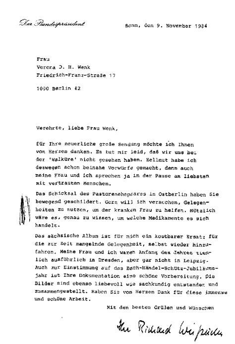 Informeller Brief Beispiel Stellungsnahme Des Regierenden B 252 Rgermeisters Richard V Weizs 228 Cker 1985