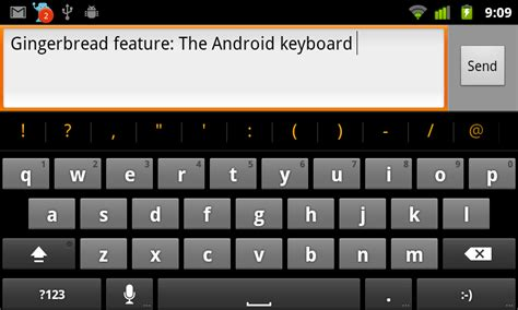 android keyboards gingerbread feature the android 2 3 keyboard android central