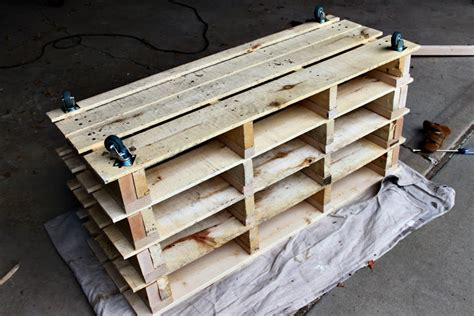 storage bench made from pallets awesome shoe storage bench made from pallets