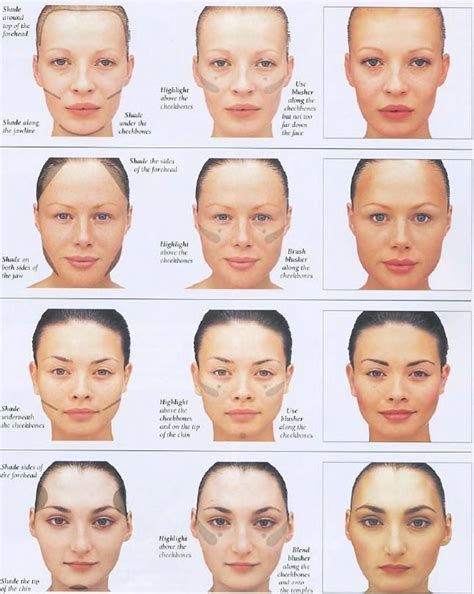 2 a rectangle face shapes pinterest face shapes contour and highlight to your face shape face shape