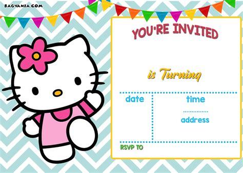 Free Personalized Hello Kitty Birthday Invitations Free Invitation Templates Drevio Free Invitations Templates To