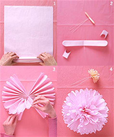 How To Make Easy Flowers Out Of Tissue Paper - do it yourself tissue paper pomanders tissue paper