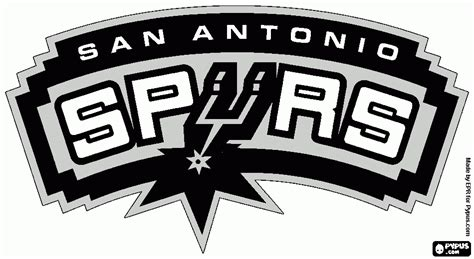san antonio spurs free colouring pages