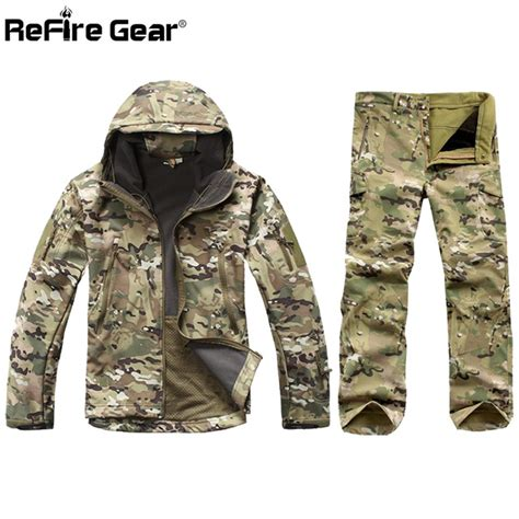 Impor Jaket Army Tad Gear Tactical Brown aliexpress buy tactical soft shell camouflage jacket set army waterproof warm camo