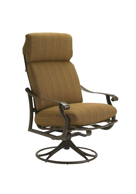 High Back Swivel Patio Chairs Montreux Cushion Swivel Rocker High Back Hauser S Patio