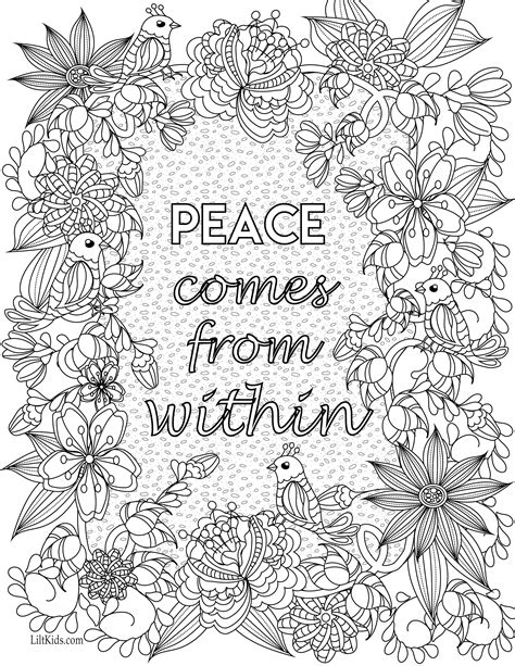 inspirational coloring pages printable free inspirational quote adult coloring book image from