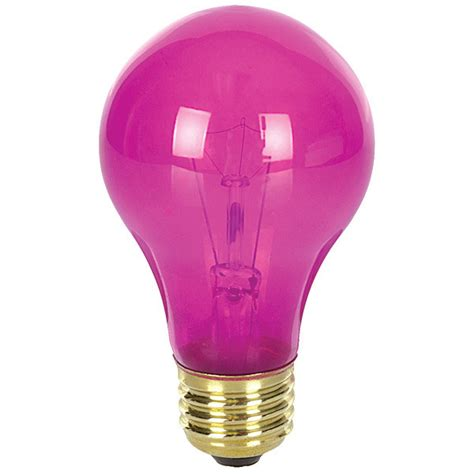 bulbrite 105625 25 watt pink party bulb