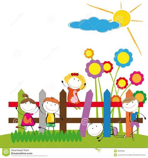 imagenes de jardines de niños animados ni 241 os felices foto de archivo imagen 29293660