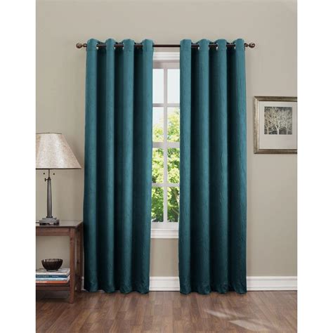 teal room darkening curtains sun zero semi opaque gregory 63 in l crushed room