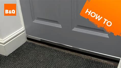 How To Draught Proof Doors Youtube Exterior Door Draught Excluder