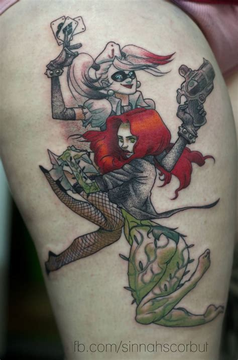harley quinn tattoo ideas 26 fantastic poison tattoos