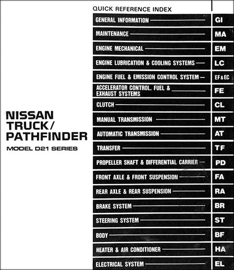 car repair manuals download 1992 nissan pathfinder electronic toll collection 1992 nissan truck and pathfinder repair shop manual original