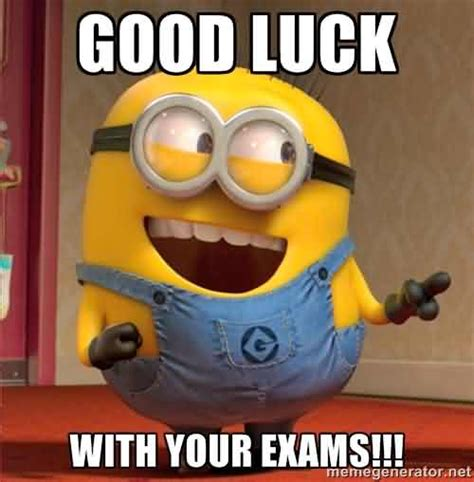 funny good luck on your exam meme nicewishes