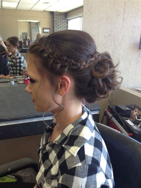 easy pentecostal hairstyle poof bump and two braids 17 best ideas about messy french braids on pinterest
