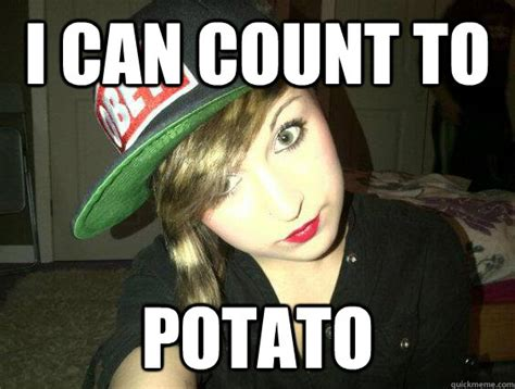 I Can Count To Potato Meme - i can count to potato misc quickmeme