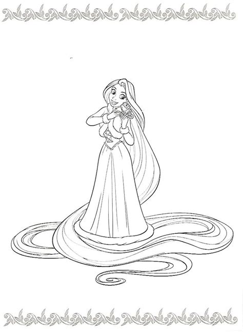 princess hair coloring pages 225 best coloriage raiponce images on pinterest tangled