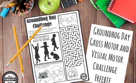 groundhog day buster groundhog day visual gross motor challenge your