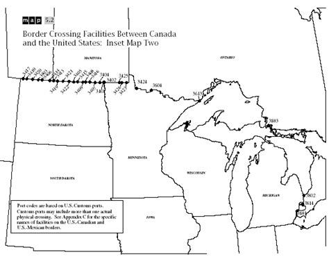 map us states bordering canada map of us and canada border