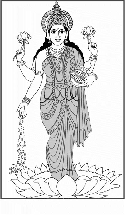 diwali coloring pages lakshmi coloring pages maa lakshmi