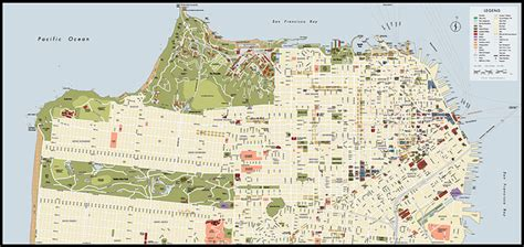 san francisco library map san francisco map with attractions