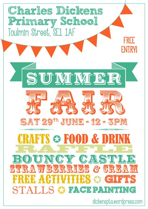 summer fair flyer template summer fair poster charles dickens pta
