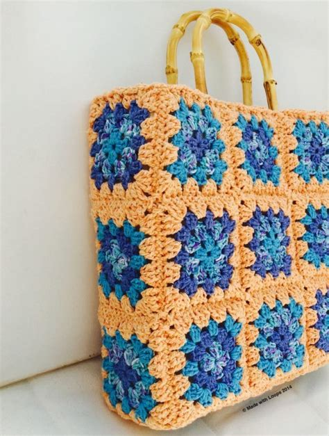 crochet tote bag pattern pinterest granny square crochet canvas tote free pattern from made