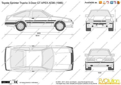 Design Blueprints Online the blueprints com vector drawing toyota sprinter