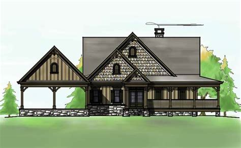 Exceptional Open Floor Plans With Wrap Around Porch #5: Lakefront-house-plan-with-wraparound-porch-and-walkout-basement.jpg