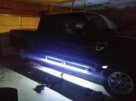 ford f250 running board lights puddle lights running board lights done ford